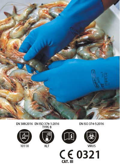 Food Processing Gloves - Superior silvers unsupported latex